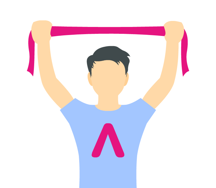 Icon of a person doing stretches